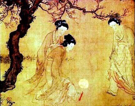 Древний китай женщины играют в футбол